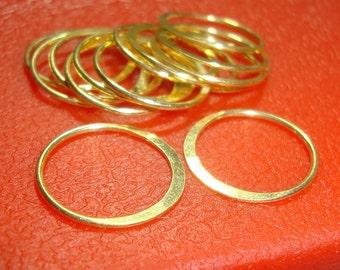 24K Vermeil Sterling Silver Eternity Circle Link,15mm,4pcs- Great for Macrame bracelet