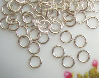 Sterling Silver open jump rings, 200 pcs, 4mm, 22 gauge - 4jo22