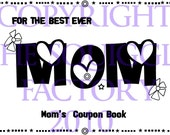 Mother's Day Coupon Book with 15 redeemable chores - Digital Stamps Set