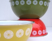 Enamelware Bowls-- set of 3