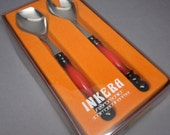 Orange Enamel & Stainless Serving Utensils - Germany