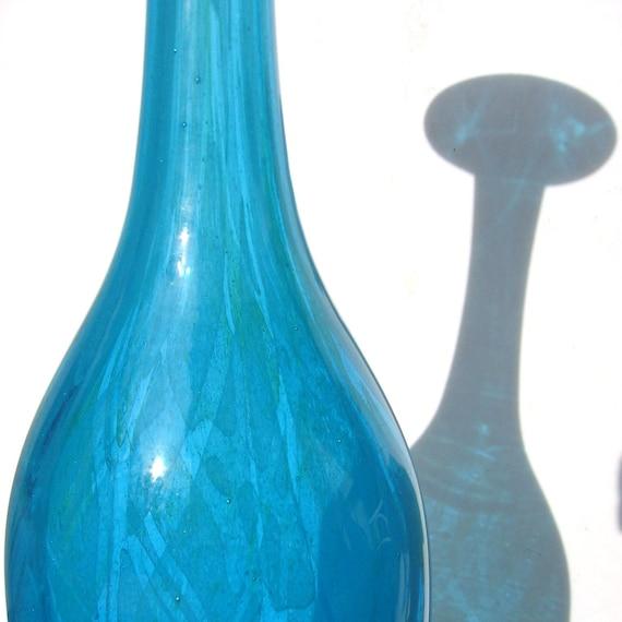 Mdina 'Ming' Tall Bottle Vase - cased glass - 1970s