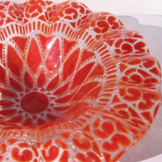 Sydenstricker fused glass dish