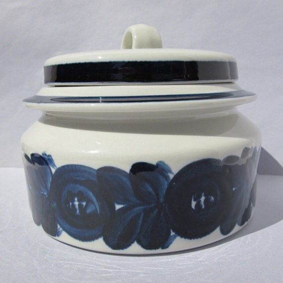 Arabia Blue Anemone Soup Tureen / Serving Dish -  REDUCED