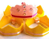 save 10% off a five crown party pack featuring one marin princess and four lexa crowns in your choice of colors.  party, play, pretend.