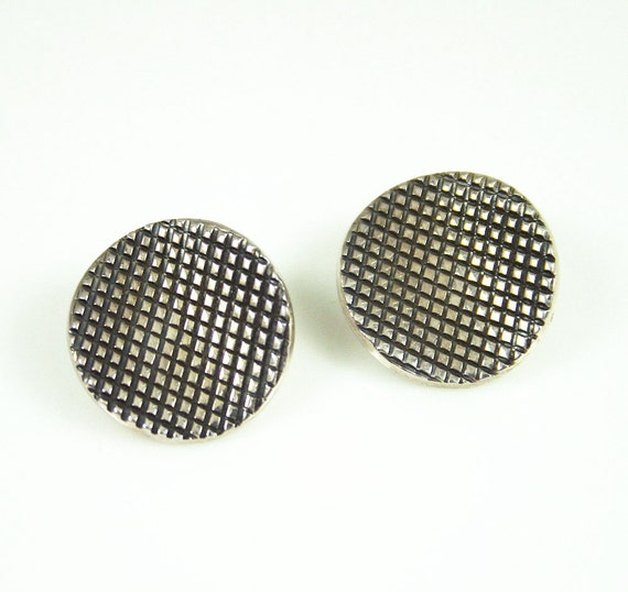 Vintage Earrings Mexico Sterling 925 HOB Modernist Jewelry