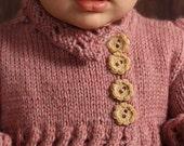 Ava Carcoat- Baby/Toddler Coat-Dress PDF Knitting Pattern