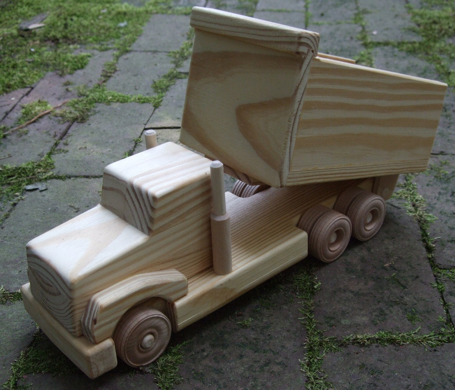 Wooden Toy Cars And Trucks : Dump truck wooden toy featured in mothering magazine