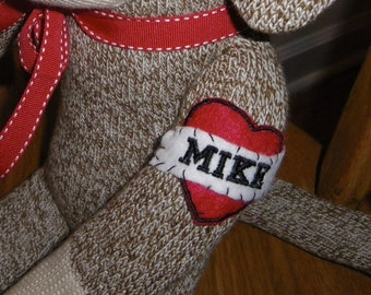 Personalized Sock Monkey Doll Tattoo, Add on Tattoo, Scrapbooking, Embellishment