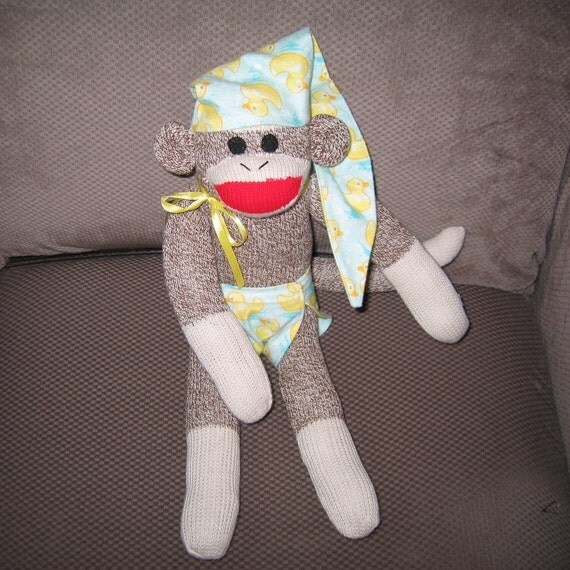 Baby Sock Monkey Doll