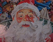 vintage 1979 whitman frame-tray puzzle, santa delivering toys