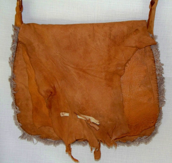 primitive antelope leather mountain possibles bag by