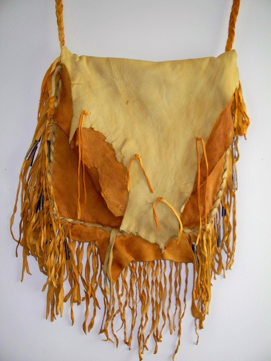 Rustic Mountain Man Possibles Bag Or Boho Hippie Ragged