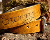 1 inch Custom Dog Collar with Name and Number