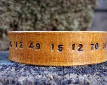 Special Date Code Leather Cuff