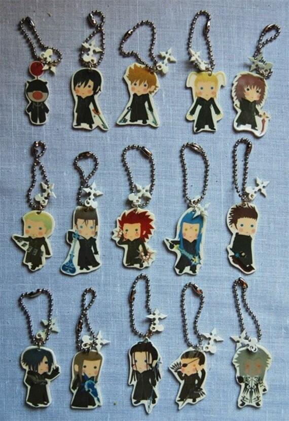 Kingdom Hearts Organization 13 XIII charm - Phone charm / Keychain