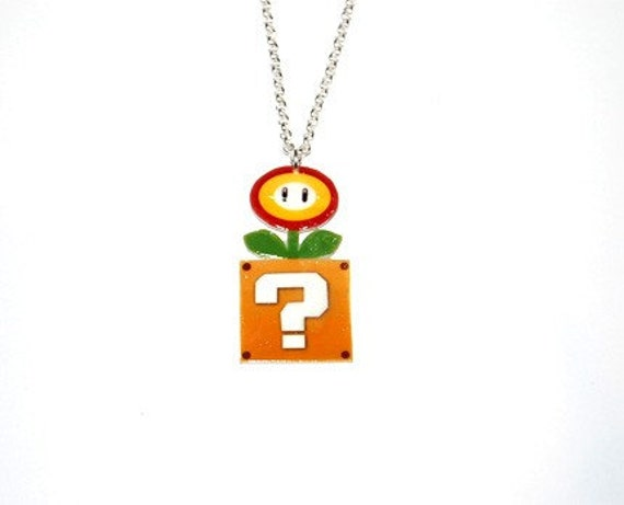 Mario fire flower Necklace