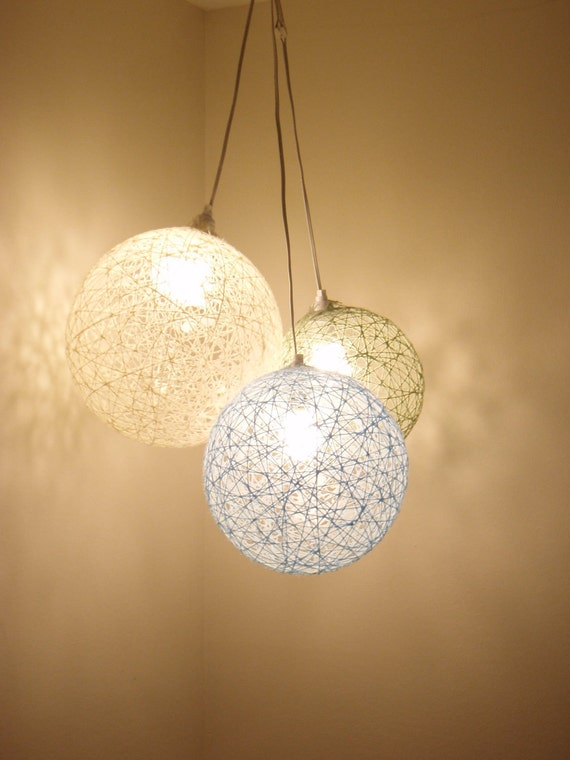 Items similar to 3 Cluster Hanging String Light Spheres on Etsy
