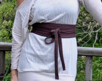 eco friendly Obi belt or Wrap Belt ( organic cotton )