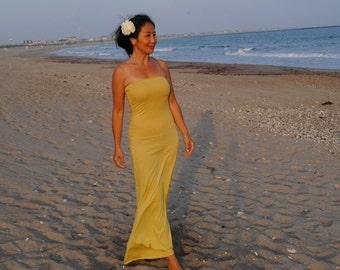 Hand Dyed Long Simplicity Dress (Hemp Organic Cotton/organic cotton)