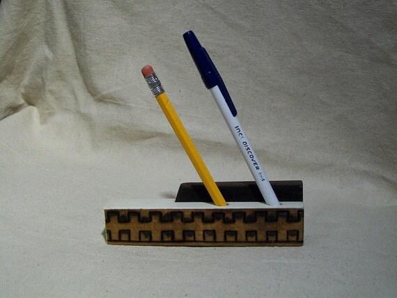 1909 Rudolf Piano Black and White Key Pencil/Pen Holder