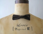 Vintage 1950s Bow Tie : 50s Rockabilly Bow Tie Sharkskin