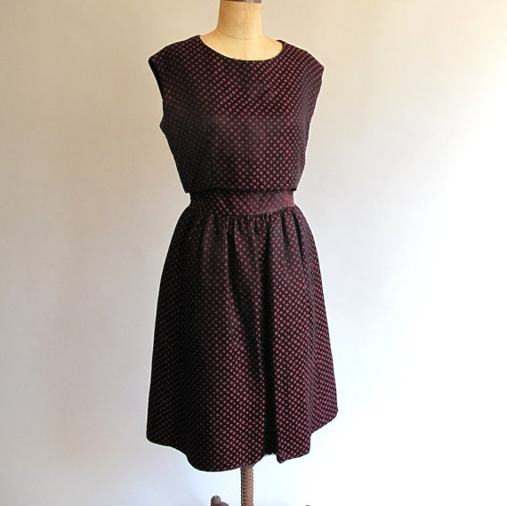 RESERVED - Vintage Early 60s Black Widow Party Dress