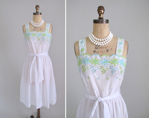 Vintage 1960s Dress : 60s Bleaker Street Sundress