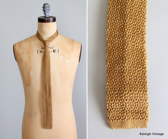 Vintage 1960s Tie : 60s Skinny Tie Mad Men