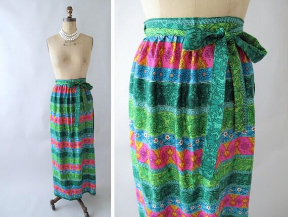 Vintage 1960s Poolside Wrap Skirt