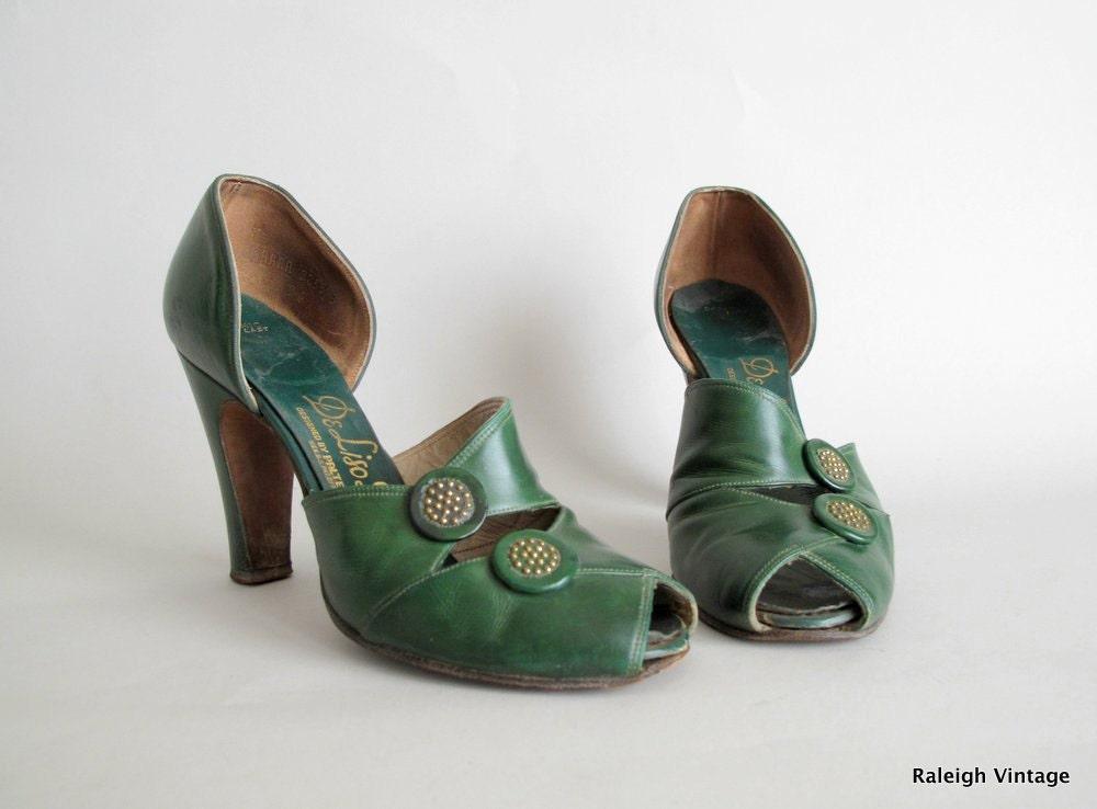 Light Green Peep Toe Shoes