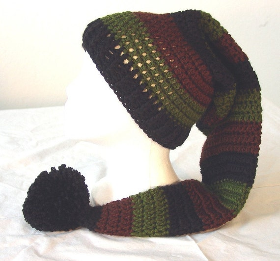 Free Crochet Pattern Long Elf Hat : Long Stocking Elf Hat Crochet Pattern by earthfirestudio ...