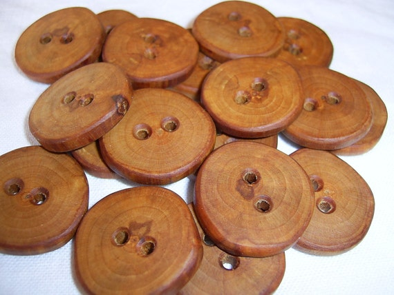 18 Handmade   wood buttons, accessories