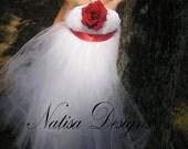 Custom Order for Stefani Cambio -  Handmade White Tutu Dress Perfect as Flower Girl Dress or Pictures