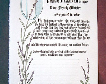 Bespoke Hand-Fasting Contract