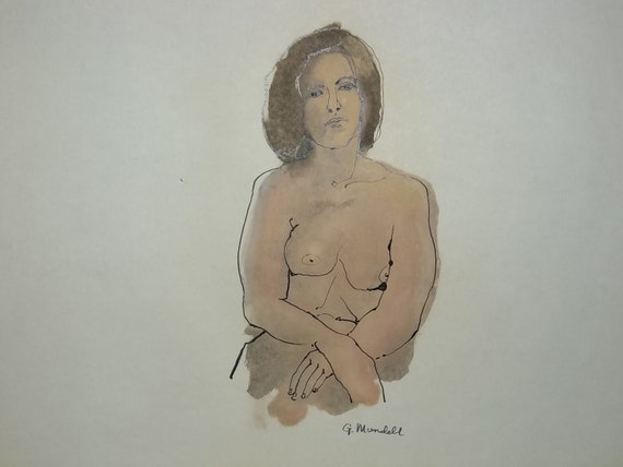 Oil Wash and ink  Figure Drawing