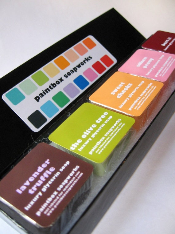 The Paintbox - Luxury Glycerin Soap Custom Sample Collection