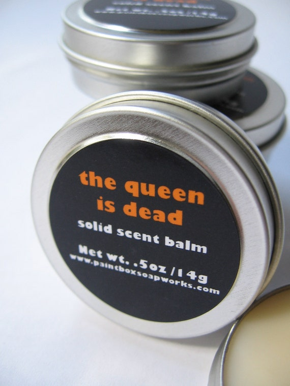 The Queen is Dead Solid Scent Balm - Honey, Leather, Smoke... NEW VEGAN FORMULA
