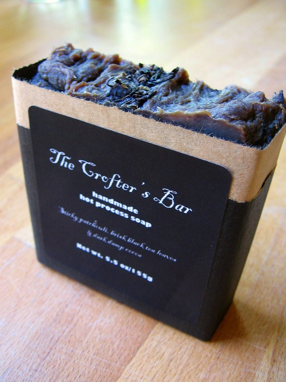 The Crofter's Bar Hot Process Soap - Sticky Patchouli, Black Tea, Cocoa... Coconut-Free Formula