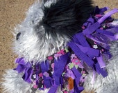 Purple Shaggy Dog Costume collar for Halloween