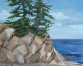 Lake Superior 11 by 14 Original Oil Painting