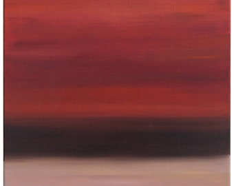 "Red Sky, 18"" x 24"" Original Oil Painting"