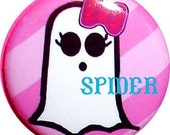 Spooky Baby (tm)  Betty Boo (tm)  Girl Ghost Pink Button 1 inch buttons Halloween Buttons Halloween Pins Gothic Accessories