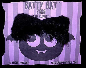 Batty Bat (tm) Ears Hair Clippies FOOFOO  Hair Clips Anime Cosplay Accessories Costume Bat Cat Kitty Ears Clips