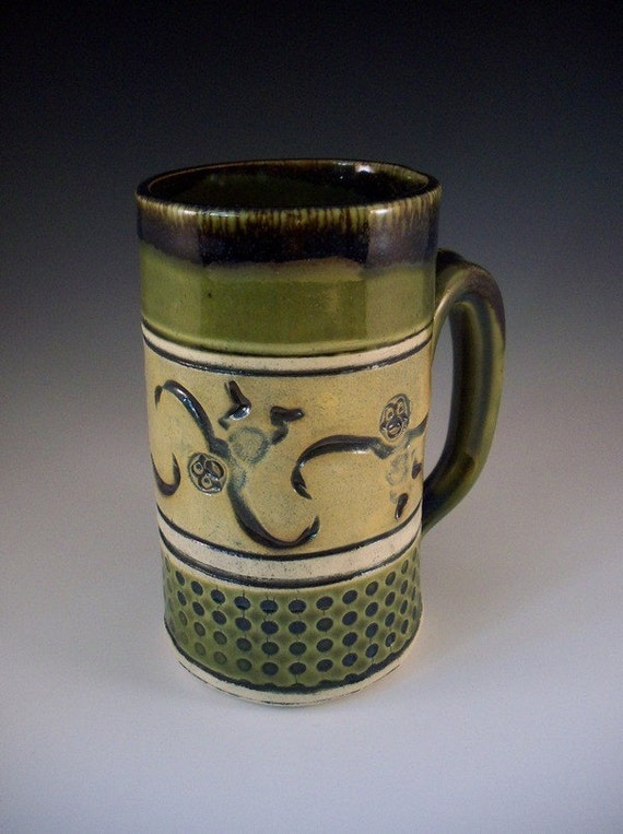 Monkey Coffee Mug Handmade, Lego Barrel Mug, Monkey Mug, Stoneware Monkey Mug, , Monkey Tea Mug, Monkey Beer Mug Unique Ceramic Mug