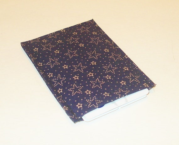 Business Card Sleeve Holder Case Gift Debit Card Super Thin  Navy Stars