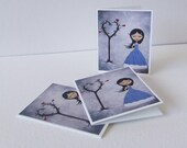 Alice in wonderland cards cute mini note cards