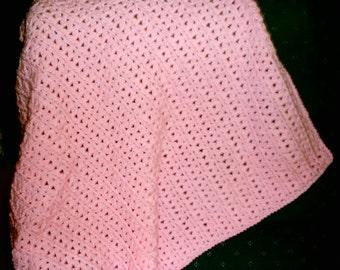 Bulky Pink Baby Afghan