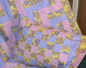 Butterfly Baby Quilt with pillow
