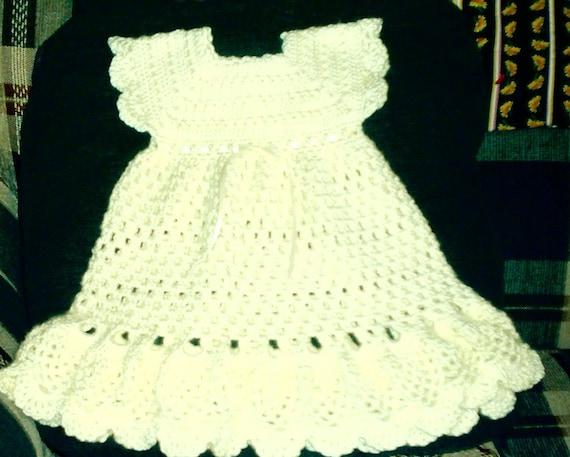 Girl's Cream Pinafore Dress
